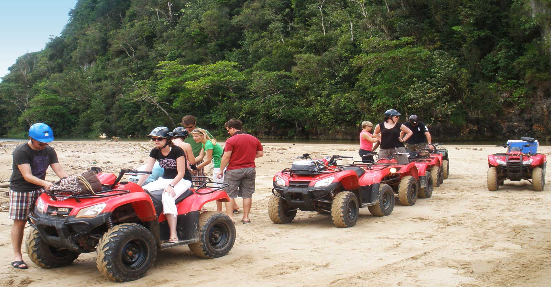 hight resolution of one of the best excursions in samana atv quad in samana dominican republic from las