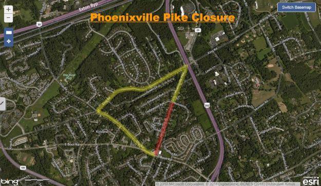 Aqua Phonixville Pike closure 11-19-18.JPG