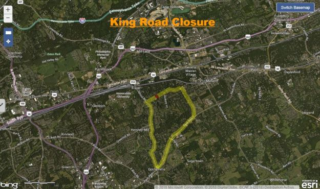King Road Closure, chester county, 10-9-18.JPG