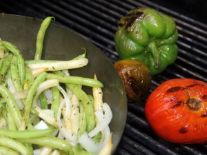grilled snap beans