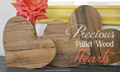 Pallet Wood Hearts