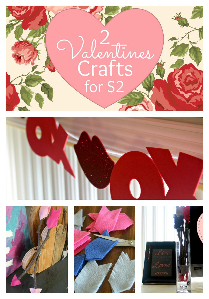 2 Valentine Crafts Collage Pin