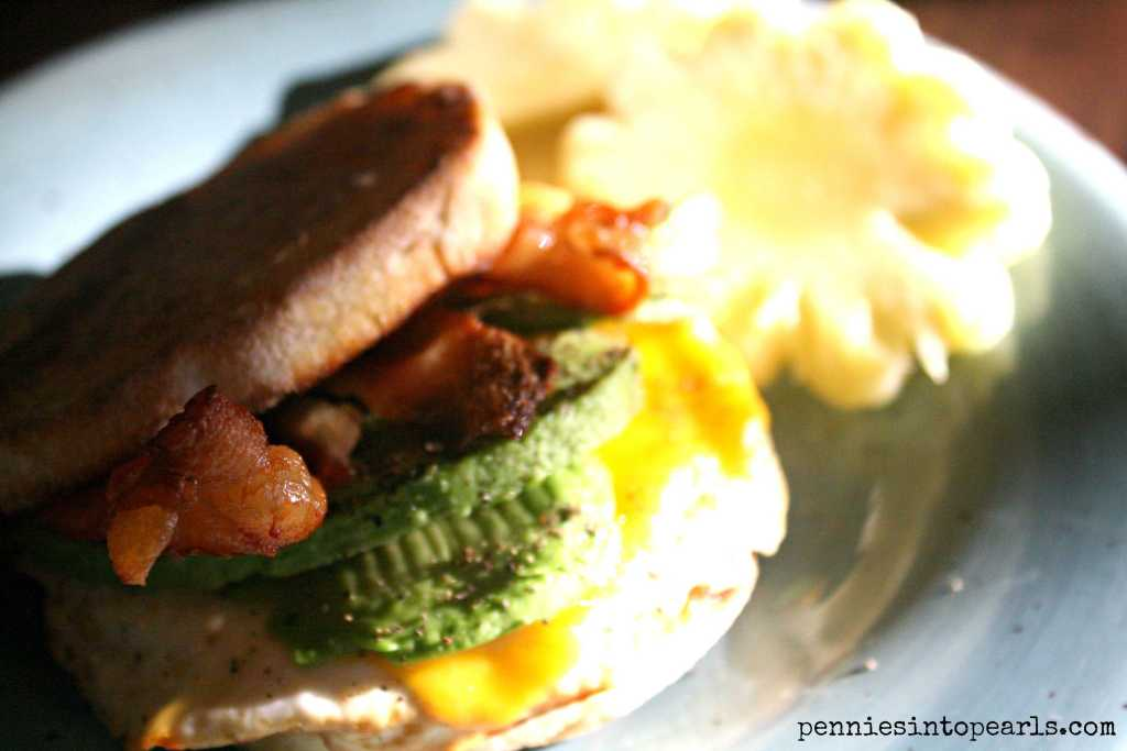 Bacon and Avocado Sandwich 1