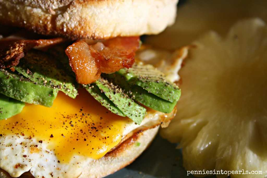 Bacon and Avocado Sandwich 3