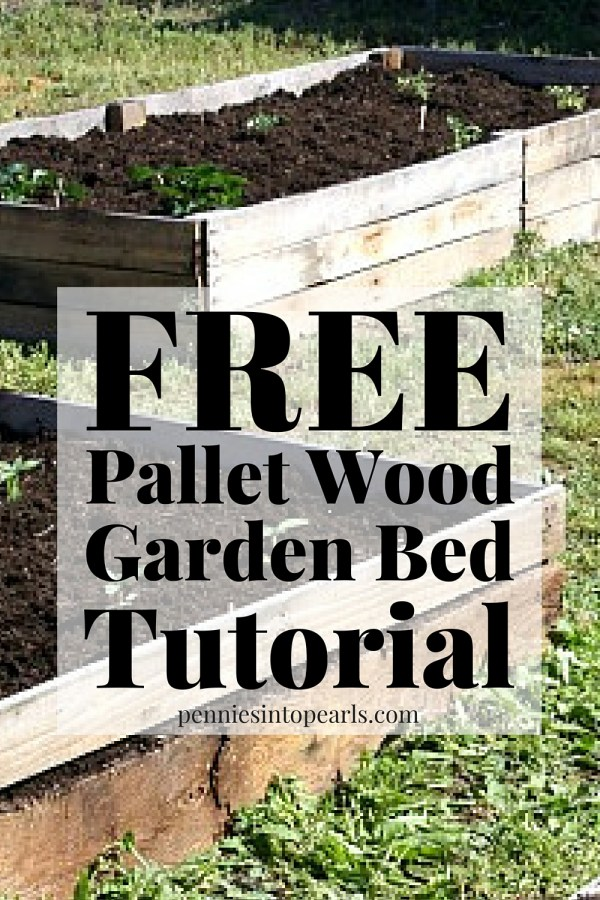 Diy pallet wood raised garden beds for How do you make a pallet bed