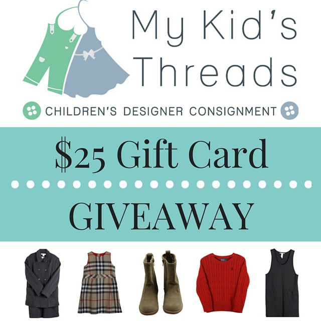 My Kid's Threads Giveaway - penniesintopearsl.com - Fun giveaway for your chance to win a gift card to a children's online consignment shop.