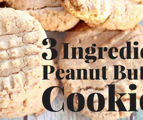 Who wants fresh baked peanut butter cookies? This recipe calls for ONLY THREE INGREDIENTS! You can make them right now!