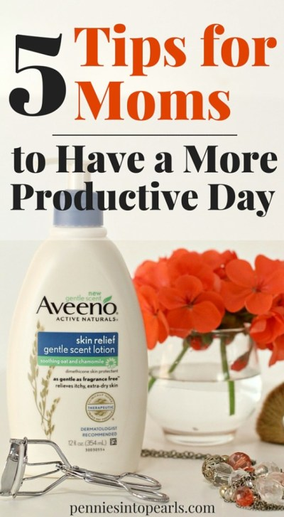 Tips for moms to be more productive and manage their time. Easy things to do each to be more productive as a mom.