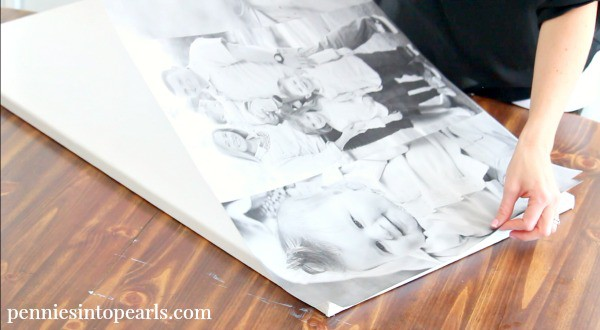 5 diy photo canvas pennies into pearls