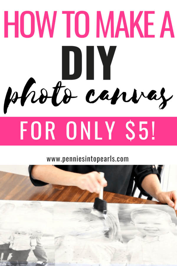 This was such an easy and cheap DIY photo canvas tutorial!  I've been wanting a big canvas of my family but they are so pricey.  This was such a simple DIY photo canvas and I love fun picture crafts!