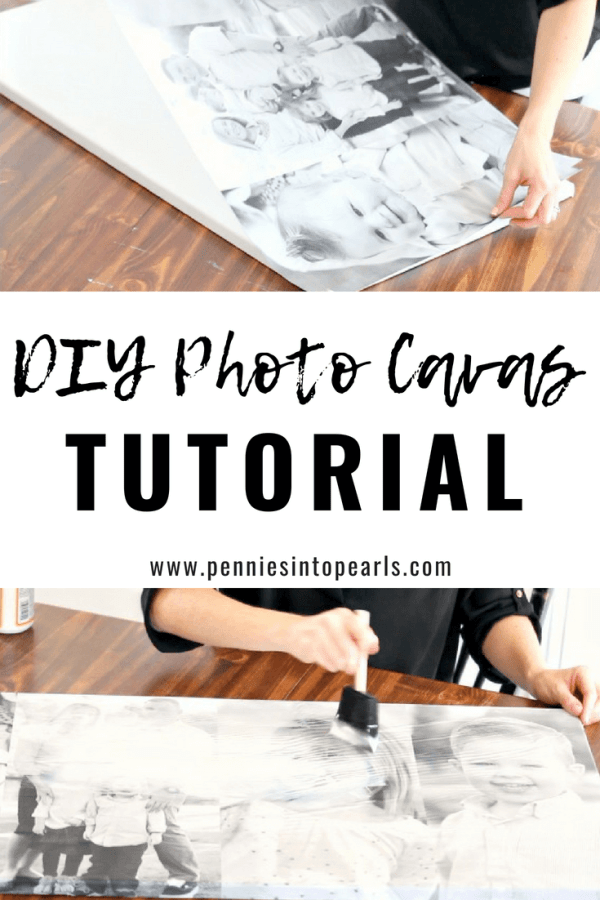 This DIY photo canvas tutorial saved me so much money!  I was able to follow these simple steps to make my own easy photo canvas.  You can make this cheap photo canvas for only $5!
