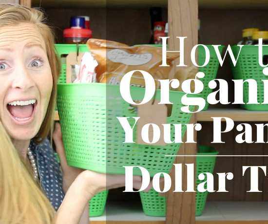 How to Organize Your Pantry for under $10! Tips on how to organize your pantry and how to keep it organized. Love Dollar Tree organizers! How to organize on a budget.