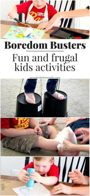 These boredom busters are so much fun for kids AND parents! Cheap and free kids activities to stop boredom. Boredom busters number five was our favorite!