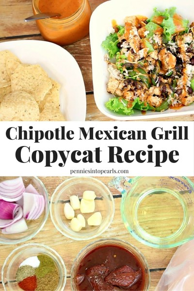 Easy and Cheap Chipotle Mexican Grill Copycat Recipe. This copycat recipe for Chipotle Mexican Grill Salad tastes exactly like you bought it from the restaurant. One of my all time favorite copycat recipes!