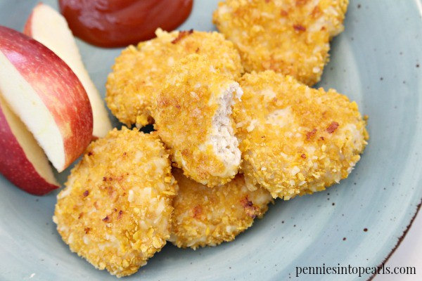 Perfect recipe for Homemade Chicken Nuggets. They come out crispy and are exactly the chicken nuggets recipe that the kids have been asking for.