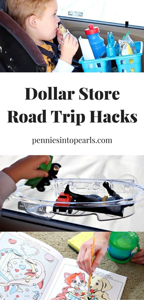 New road trip hacks all using dollar store items. The water color paint book looks like a really cool road trip hack!