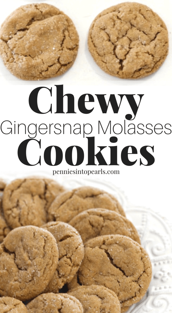 This is one of the most flavorful, thick and perfectly chewy cookie recipes I have ever tasted! It takes the flavor of homemade gingersnaps up a notch. These soft and chewy cookies will turn out perfect the first time you make them!