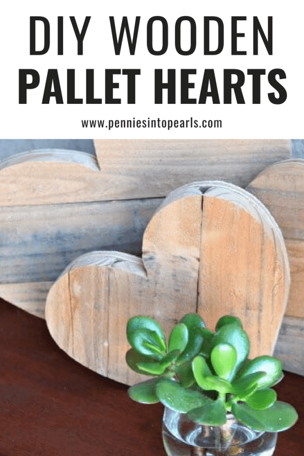 Rustic home decor is so popular these days! I used some old pallets to make these super cute DIY wooden pallet hearts! They were so easy to make and and took under an hour! Perfect year round DIY home decor!