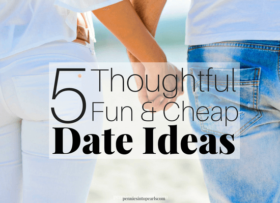 Here are FIVE cheap date ideas that require almost zero planning or work. If you want to go out or stay at home, you are going to love these date ideas. Bets are that you haven't tried any of these unique and cheap date ideas yet!