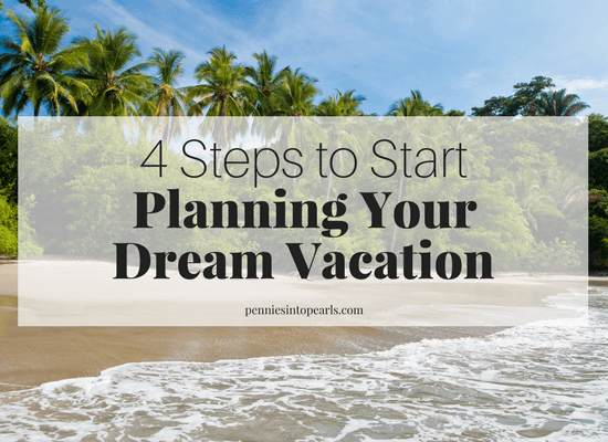 Follow these four SIMPLE STEPS on how to plan a vacation on a budget and start planning your vacation today! Your dream vacation is 100% doable when you learn how to travel on a budget. This girl shares real life numbers of exactly what her family spent on their Costa Rica dream vacation!