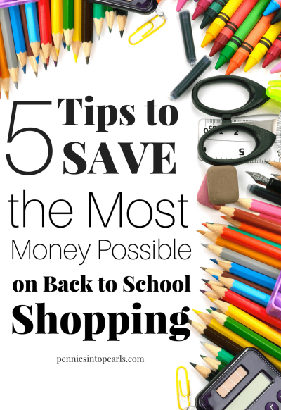 "5 Hacks to never pay full price on anything ever again when it comes time for back to school shopping. My new favorite app that does all the sale searching for you. Tips on the best ways to use the app to save the very most money possible. How to set a budget for back to school shopping. How to know what prices are ""good"" prices. When's the best time to jump on a hot sale!"