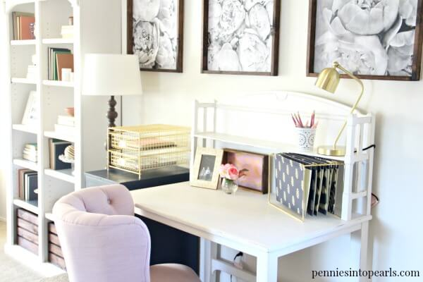 Office makeover ideas Budget These Office Makeover Ideas Will Leave You With Inspiration Motivation Encouragement And Tips Pennies Into Pearls Elegant Office Makeover On Budget Total Cost Breakdown