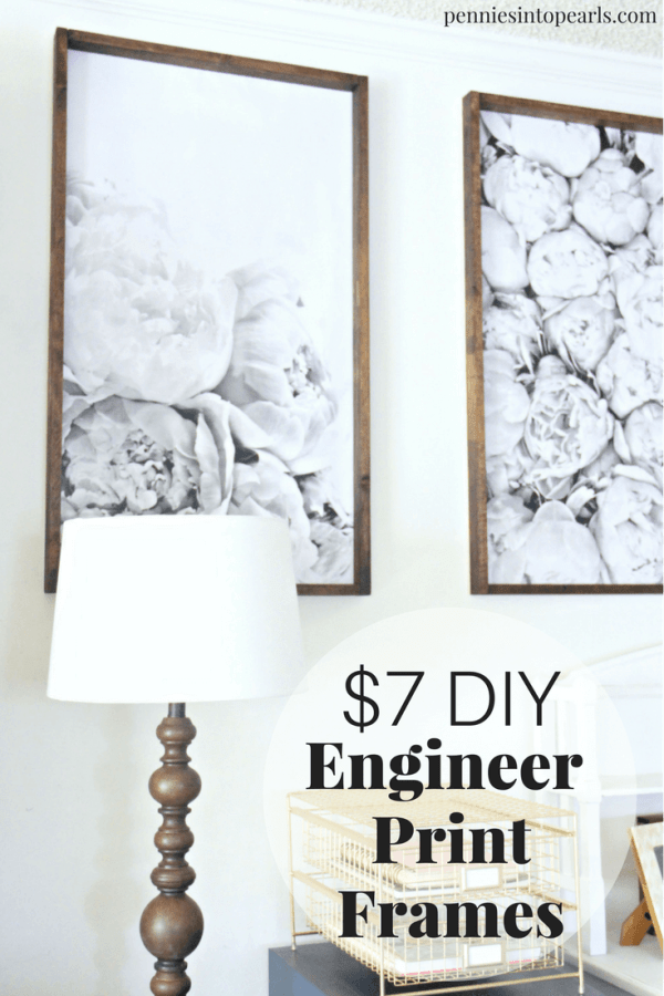 how to build a diy engineer print frame for under 7 each