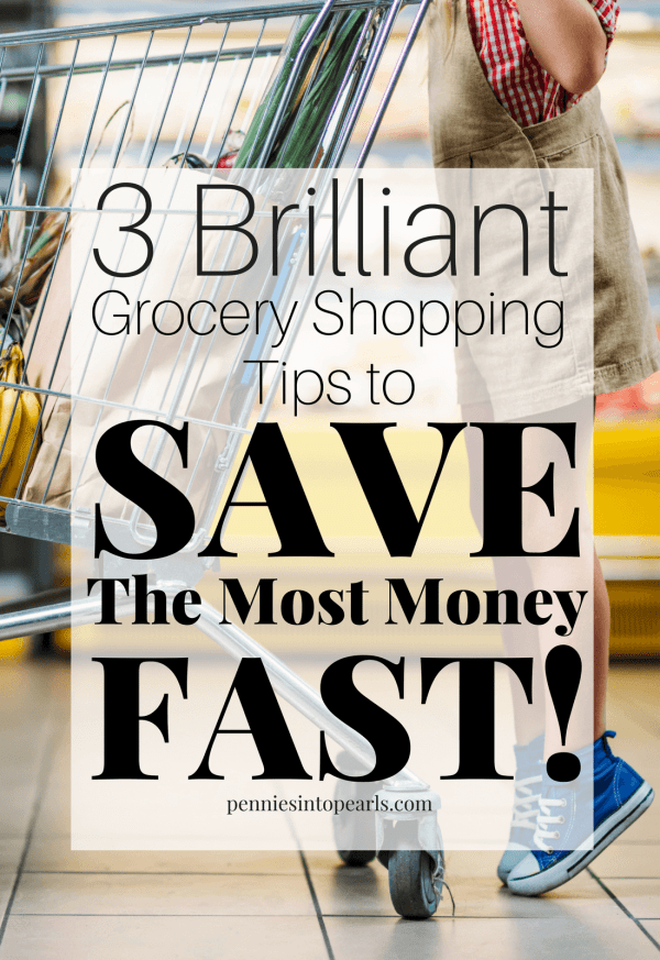 3 Grocery Shopping Tips and you won't spend more than 15 minutes on your next grocery shopping trip! These tips will teach you the essentials for grocery shopping on a budget and how to save the money on groceries.