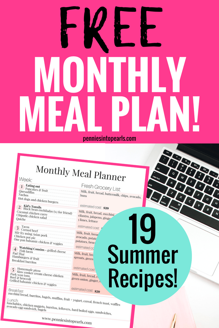 meal planning archives pennies into pearls