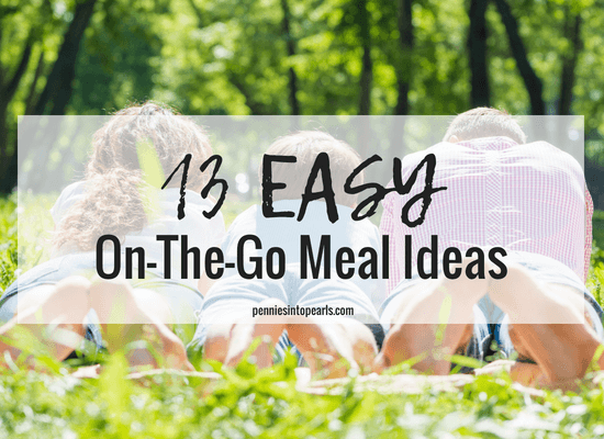 Us busy moms are always in need of easy on the go meal ideas! These 13 easy on the go dinner ideas are perfect for the family are especially perfect on the meals for kids! It doesn't matter what time of year it is, it's always a good idea to have some on the go dinner ideas up your sleeve for those busy days!