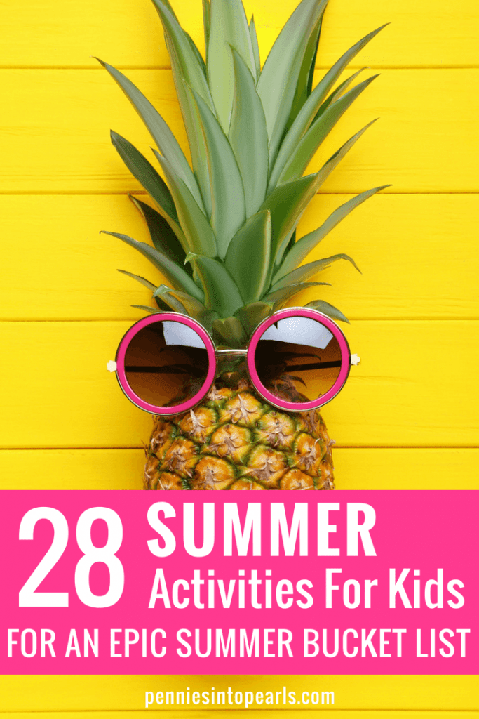 The planning is already done with these 28 summer activities for kids that will have your kids awarding you some major mom points this summer! Use this summer bucket list FREE PRINTABLE full of cheap or free summer activities for kids and make this summer unforgettable!