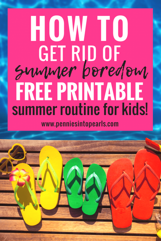 Use this FREE Summer Routine for Kids Printable to get your family motivated to get the important chores out of the way to make room for fun summer activities. Your summer routine for kids will help create a summer schedule for kids that they love and learn the rewards of working hard.