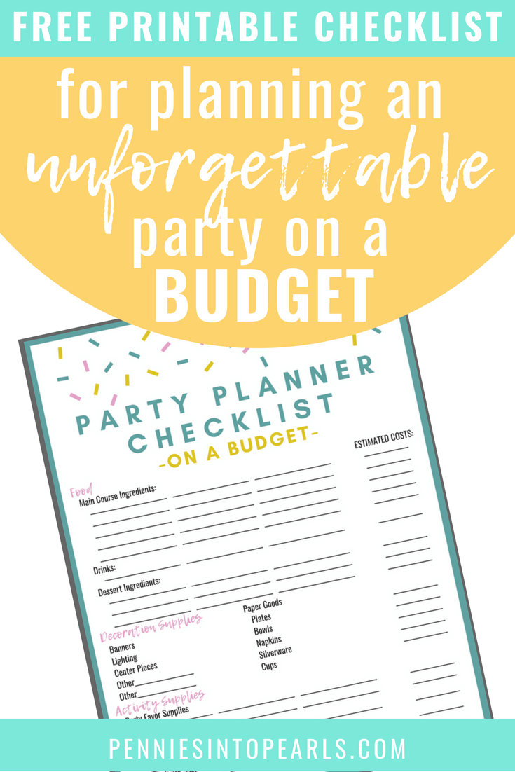 8f0ac8773fe81 Use this free printable party planner checklist to help you throw an  amazing party on a
