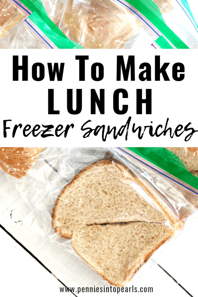 This is how to make a whole lot of lunch freezer sandiwches at one time to help you save a bunch of time in your week! Freezer cooking is the perfect way to do batch cooking and make it work for lunches too!
