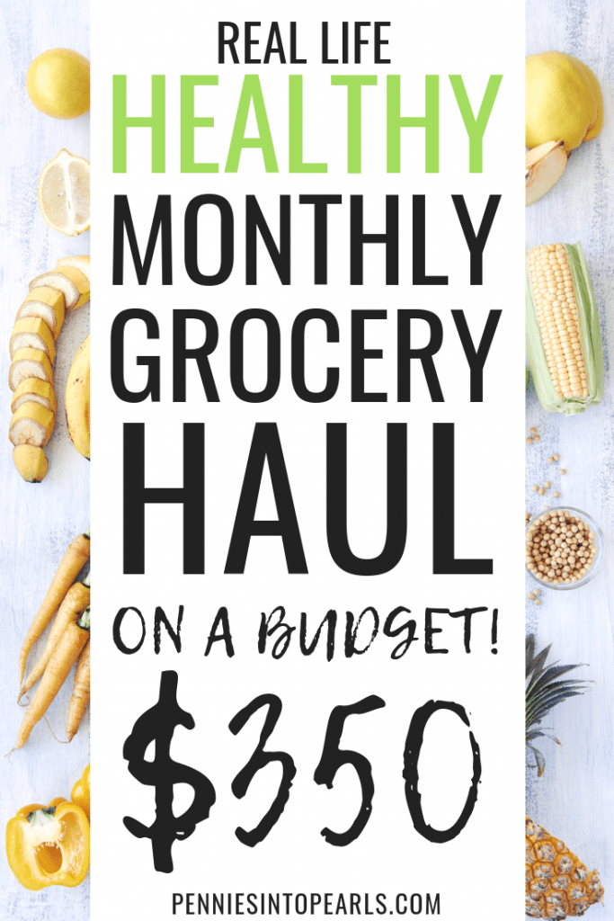 Eating healthy on a budget is totally possible! How does $350 to cover your monthly grocery haul sound! This monthly grocery haul is going to show you how to eat healthy on a budget and help your entire family do the same thing! Costco and Target healthy grocery haul 2018.