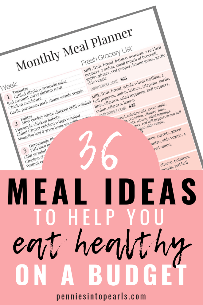 Helping your family eat healthy is about to get a lot easier! FREE PRINTABLE MEAL PLAN to cover your healthy eating habits for an entire month! It includes 16 healthy dinner ideas, 8 healthy lunch recipes, and 10 healthy breakfast recipes. All these healthy recipes are Whole30 and Paleo compliant!