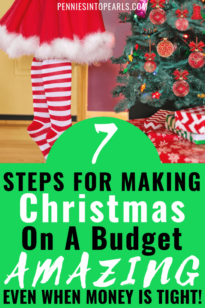 Christmas on a budget is a good thing! Take the Debt Free Christmas challenge now and stick with cash this holiday season! Use these 7 tips to make Christmas on a budget the best Christmas your family has had yet!