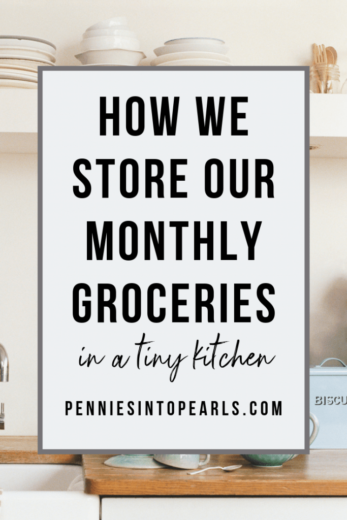 How we store a month of groceries