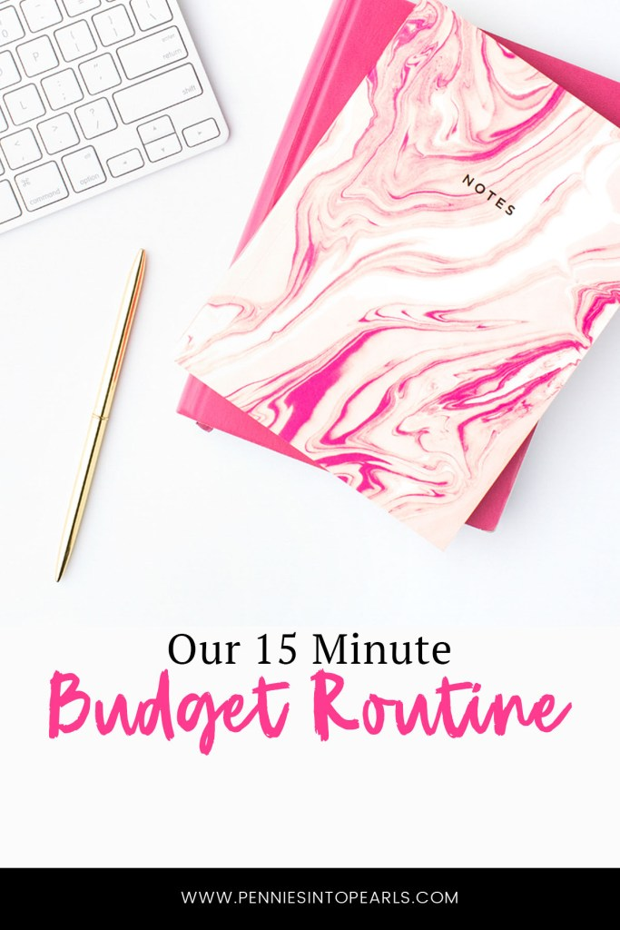 These are the 6 steps to our budget routine. We set up a budget date every two weeks when hubby gets paid. I'm sharing the 6 steps to our budget routine.