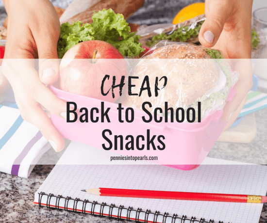 Cheap Back to School Snacks