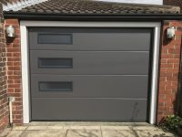 Hormann sectional garage door, Denton