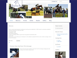 Pennine View Stud Web Screenshot