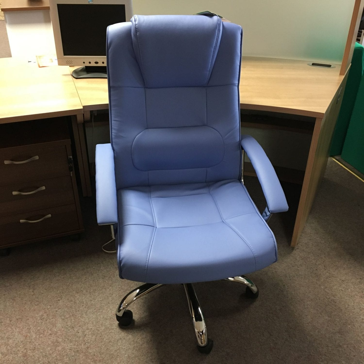 stylish office chairs uk democratic national committee chair blue faux leather exec penningtons