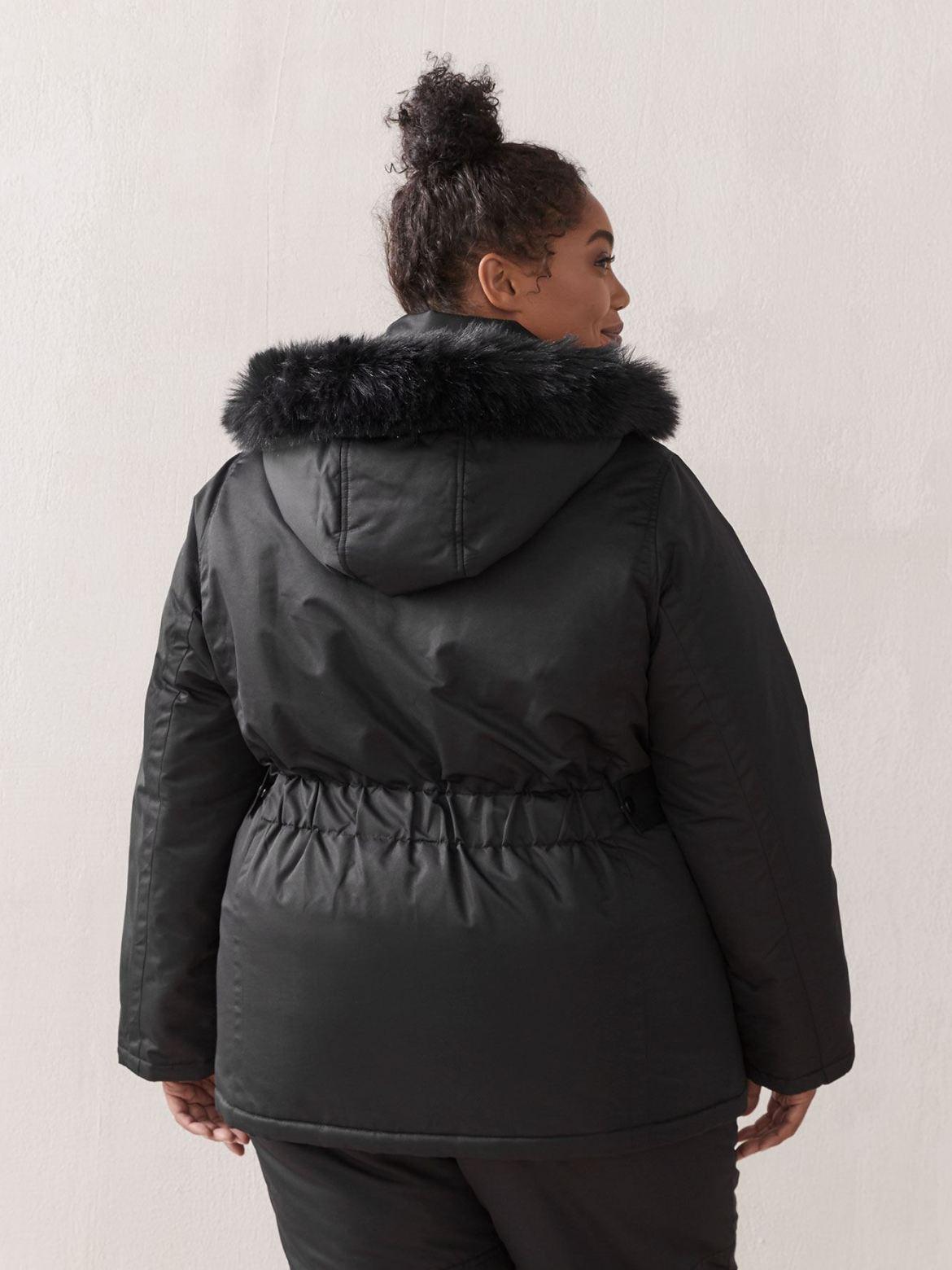 Ski Jacket with Faux Fur Hood - ActiveZone