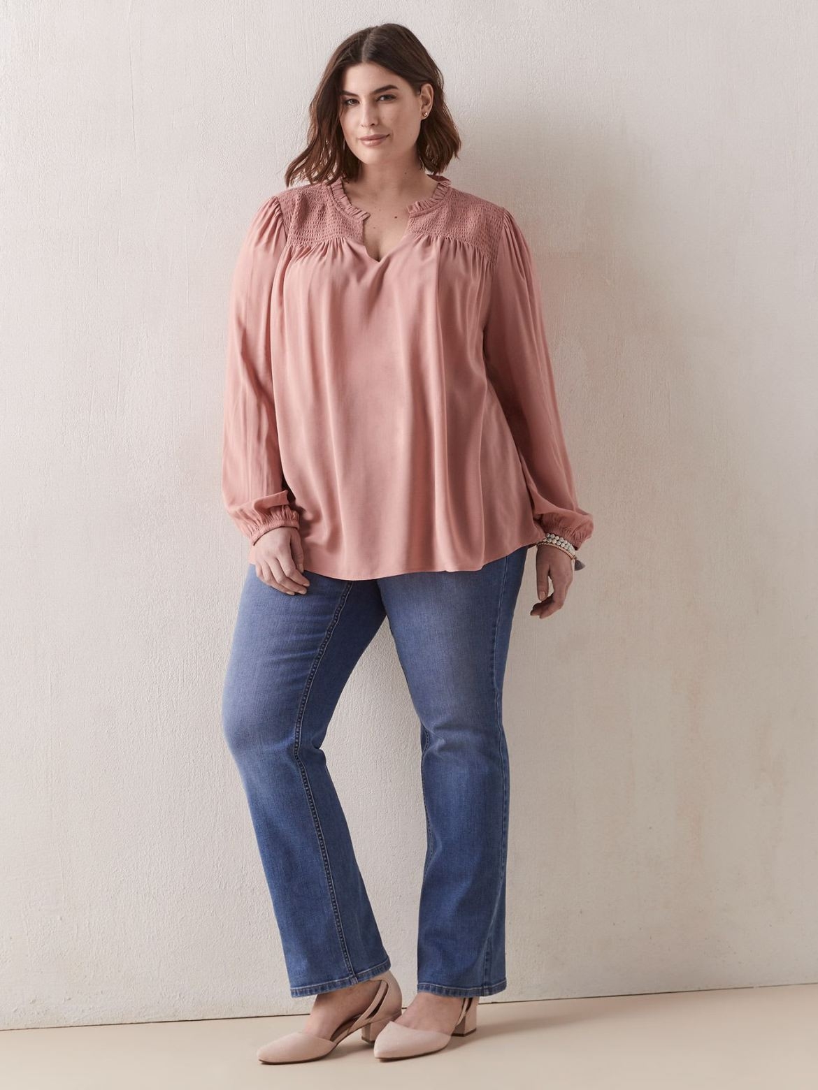 Solid Blouse With Balloon Sleeves - In Every Story