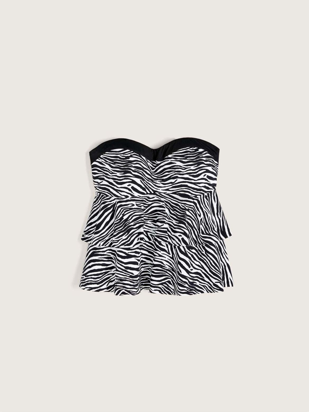 Zebra Print Tankini Top - Addition Elle