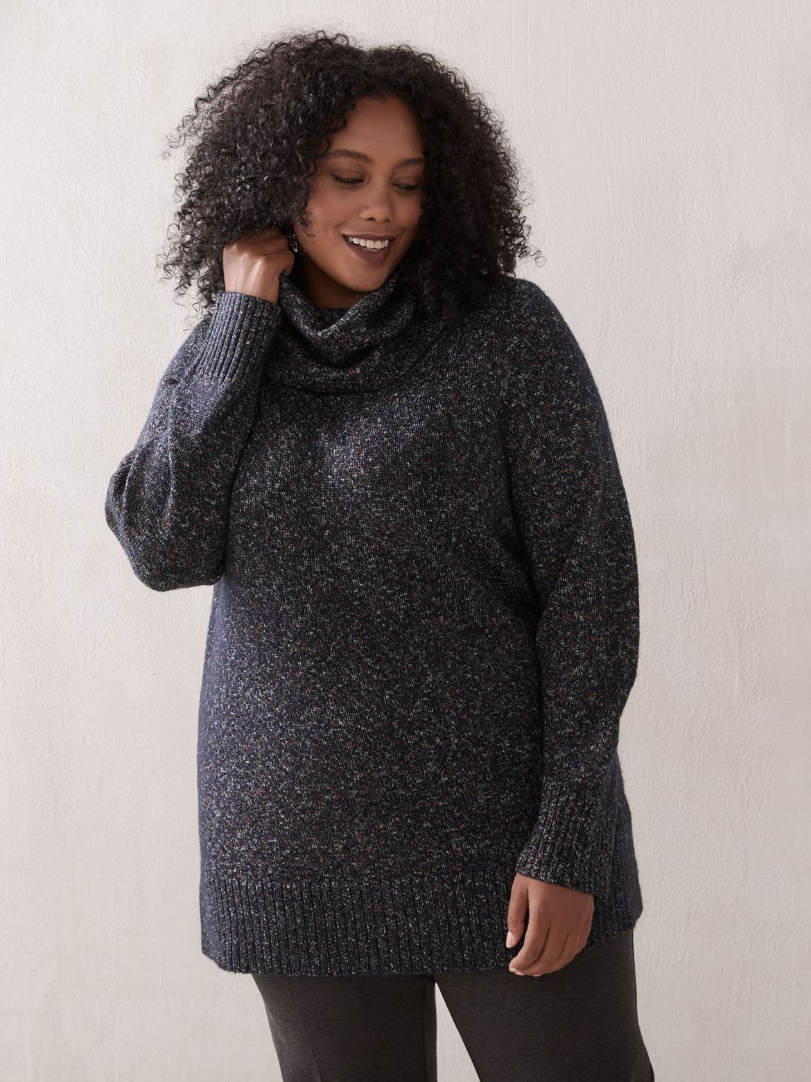 Cowl-Neck Tunic Sweater - In Every Story