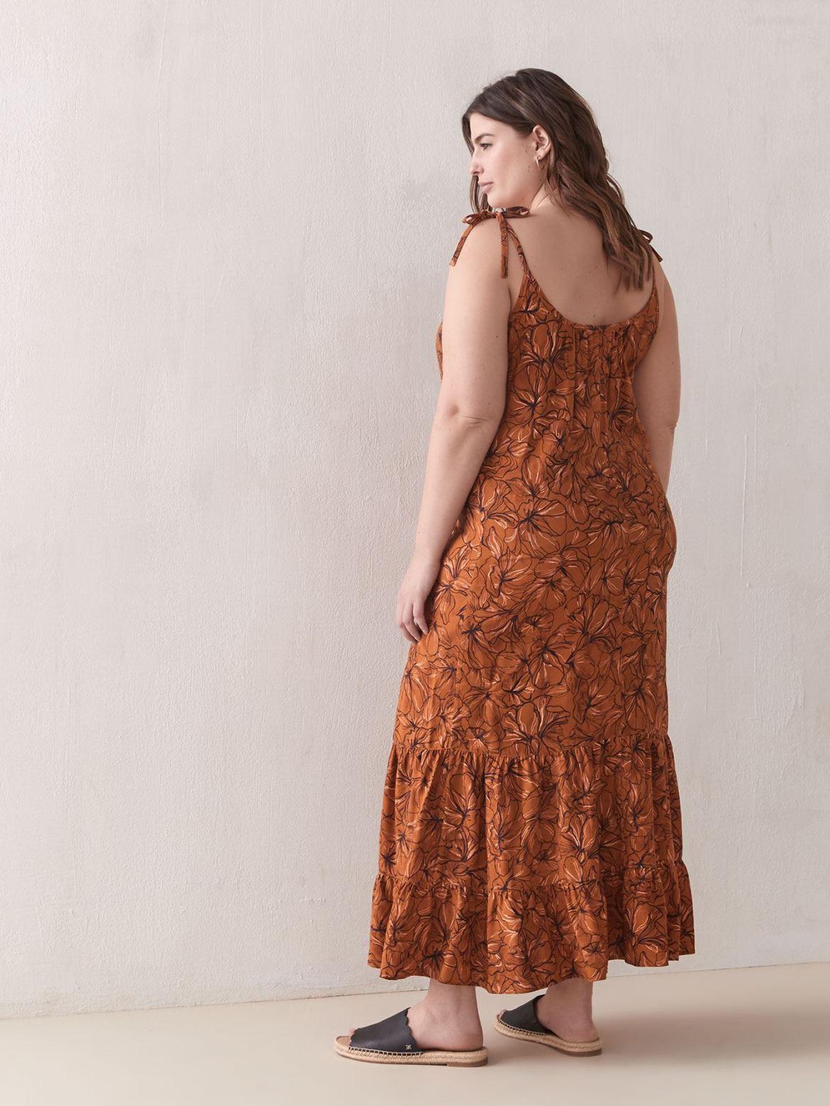 Sleeveless Flounce Maxi Dress - Addition Elle