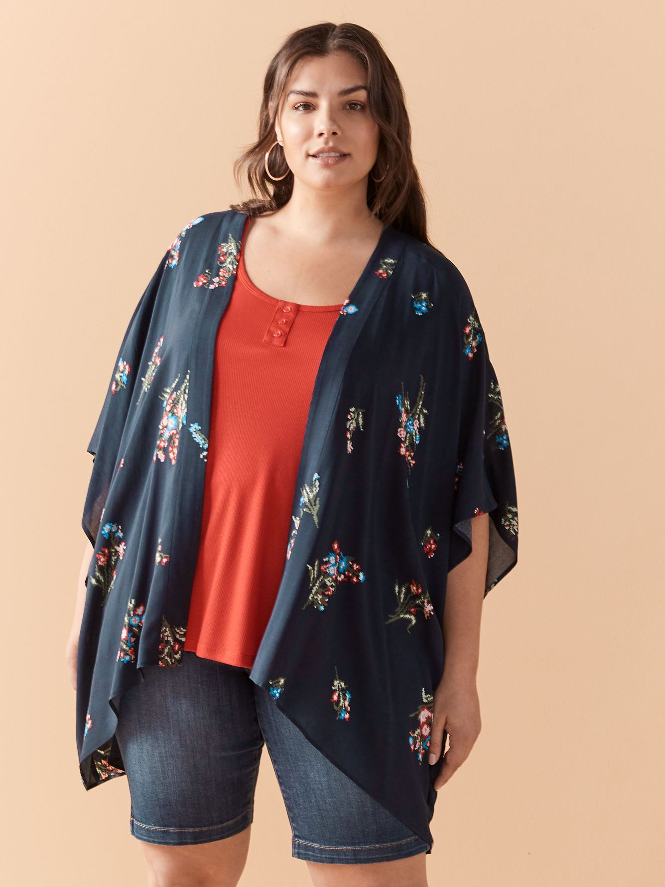 Short Sleeve Cover Up Kimono Top - In Every Story 10