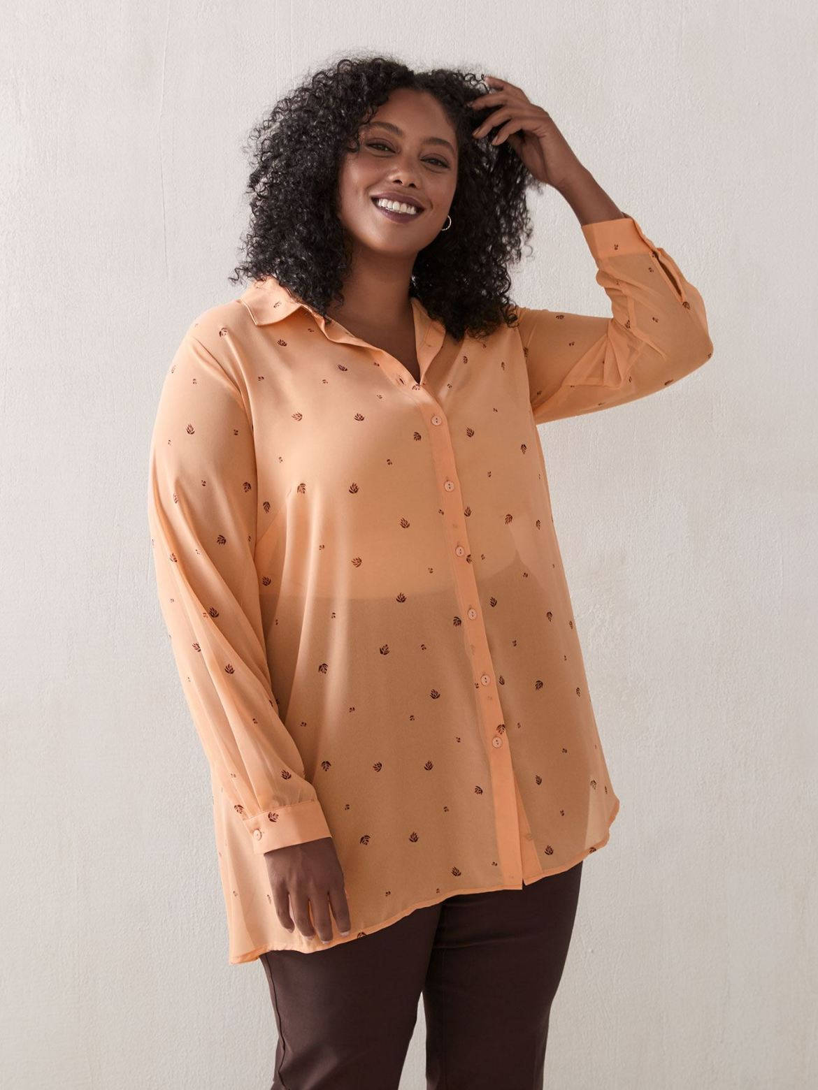Long Sleeve Printed Tunic Blouse - In Every Story